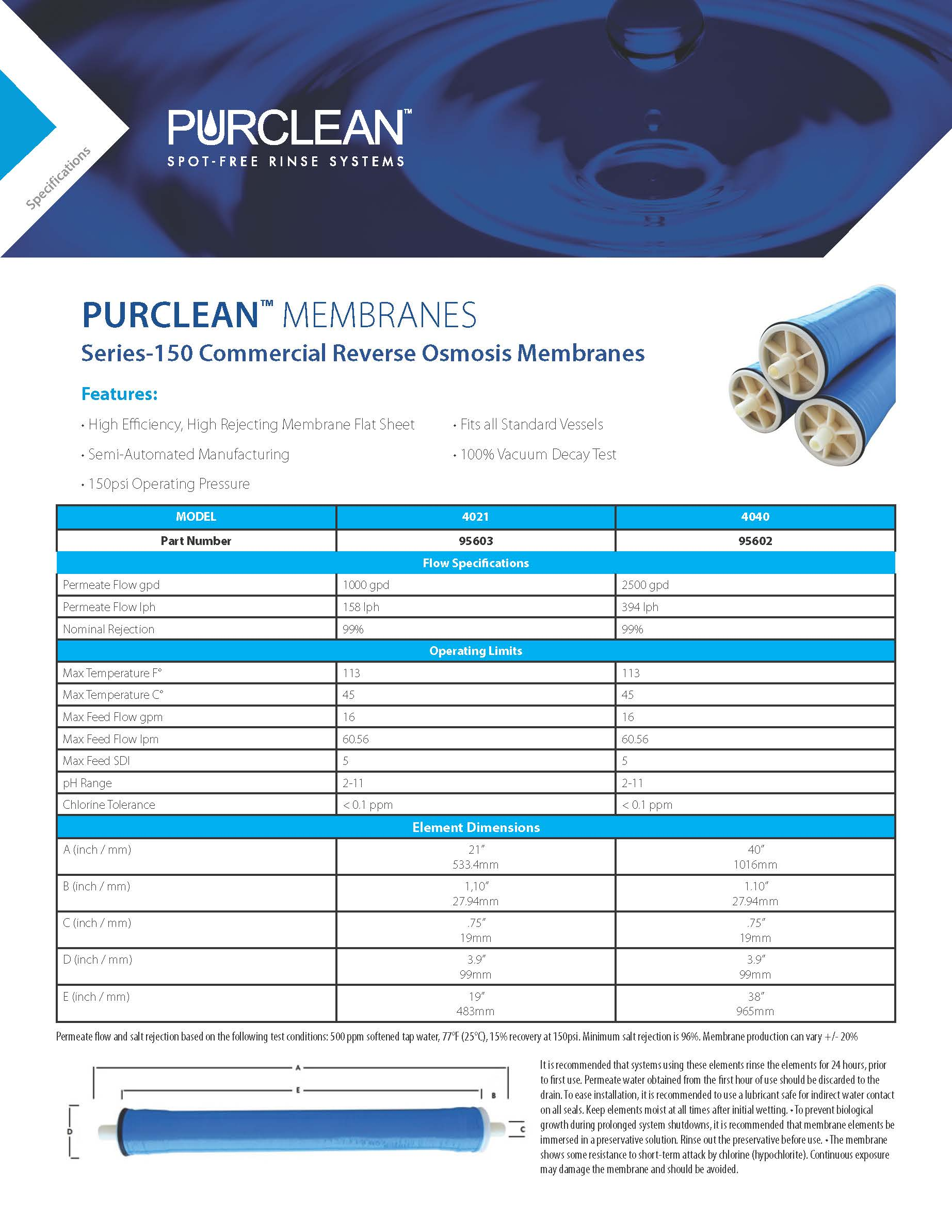 PC_Spec Sheet_Template MEMBRANES 150