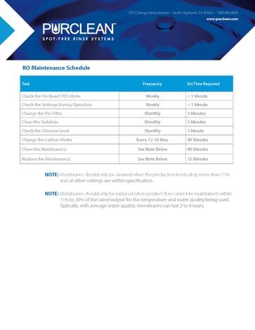 RO Maint Schedule_012121