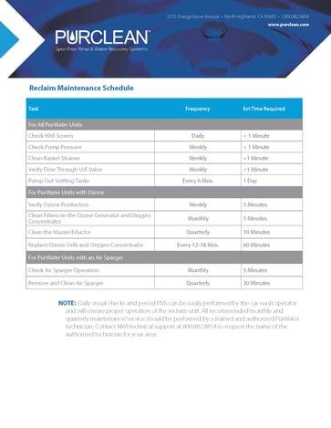 Reclaim Maint Schedule_012121-1